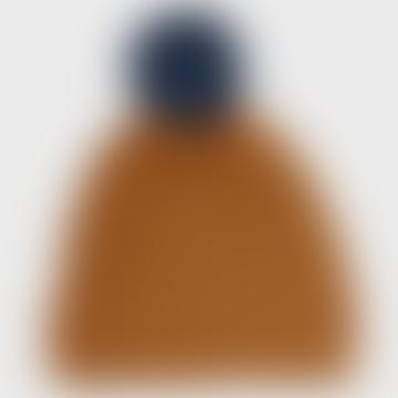 Komodo Tobacco Merino Wool Pom Pom Beanie
