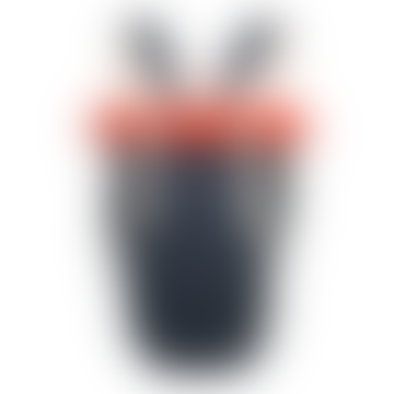 Navy & Visibility Orange Rori Rolltop Laptop Backpack Bag