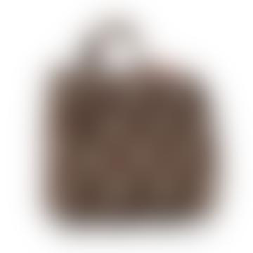 Mocha Dots Foldable Toilet Bag