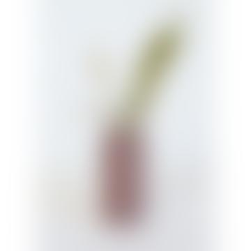 Little Deer Mini Burgundy Cylinder Vase with Dried Flower Bunch
