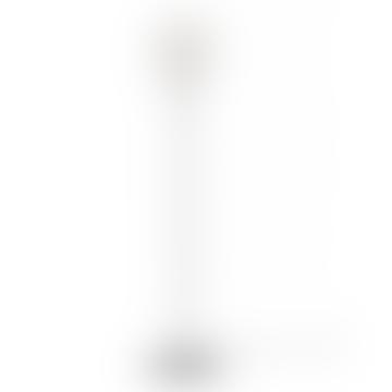 Mini White Silvia Black Champagne Floor Lamp