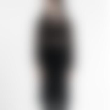 Hand Knitted 100% Linen Tunic Dress Black