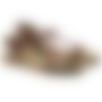 Footbed Sandals Brown Vegan Leather