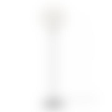 Medium White Carmina Shade With Black Stand Floor Lamp