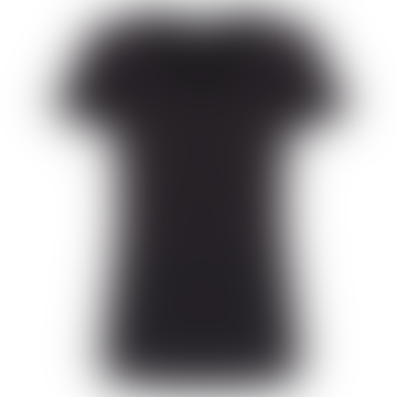 Camiseta con cuello redondo Luna negra