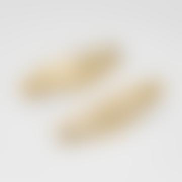Das Evanesce-Ohrstück ist vergoldet