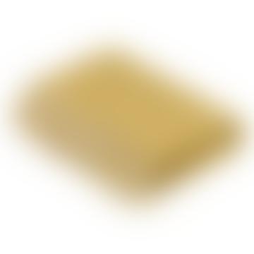 Gold Luxury Athens Check Merino Lambswool Throw