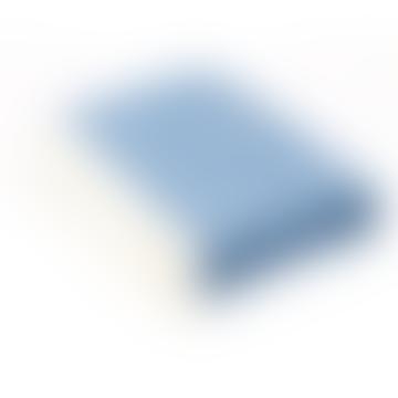 Aqua Blue Shetland Herringbone Throw