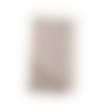 Moss Stitch Cotton Throw - Stone 125x180