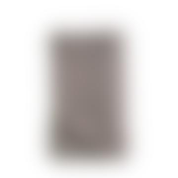 Moss Stitch Cotton Throw - Pewter 125x180
