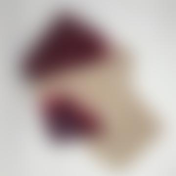 Pale & Interesting Artisan Bandhari Scarf in Cream and Magenta