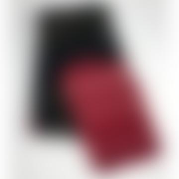 Pale & Interesting Artisan Bandhari Scarf Black and Scarlet
