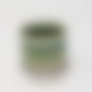 Green Dip Dye Pot & Saucer