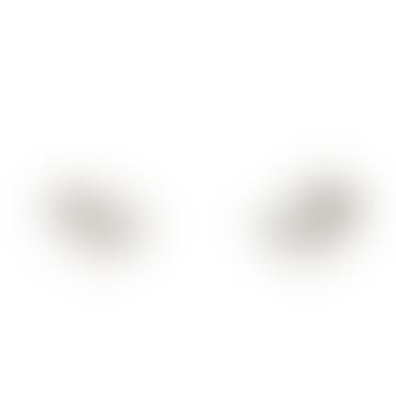Bijoux Stalactite Small Silver Laurier Vermeil Stud Earrings