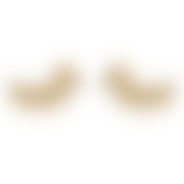 Bijoux Stalactite Large Gold Laurier Vermeil Stud Earrings