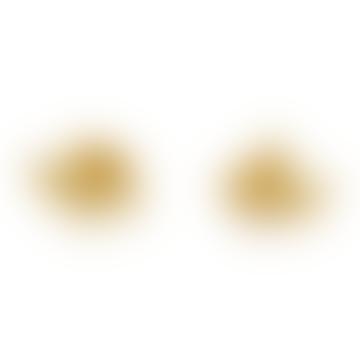 Bijoux Stalactite Small Gold Laurier Vermeil Stud Earrings