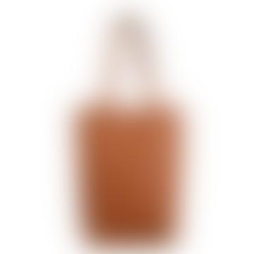 LAMARI BERLIN Cognac Leather Big Tote Bag Shopper