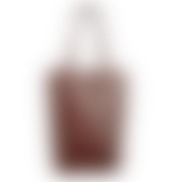 LAMARI BERLIN Burgundy Leather Big Tote Bag Shopper