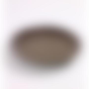 Grey Earthenware Plate - Medium