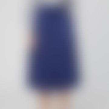 Knee-Length Ocean Blue Modal Skirt