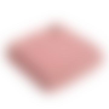 Dusky Pink & Pearl Herringbone Pure New Wool Throw 150cm x 183cm