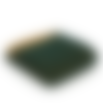 Emerald & Mustard Pure New Wool Herringbone Throw