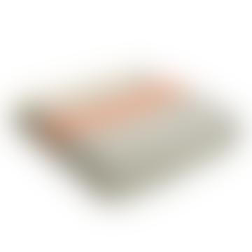 Grey & Pumpkin Pure New Wool Fishbone 2 Stripe Throw