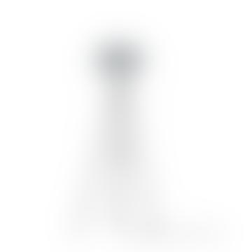 Mini Misty Grey Carmina Shade With Black Tripod Floor Lamp