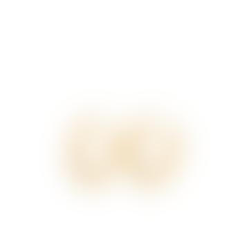 Gold Plated Beta Hoops Earrings