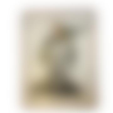 Framed Man With Bird Print (30x40)