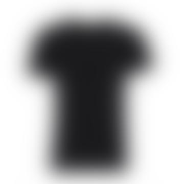 Slim Fit Black V Neck T-shirt