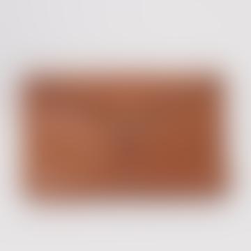 Beaumont Organic Tan Valencia Leather Zip Clutch Bag