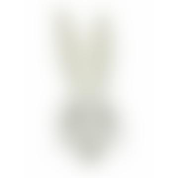 White Mini Wool Rabbit Animal Wall Head