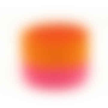 Kali-Orange- und Neon-Rosa-Blockfarbe gewebt Korb - klein