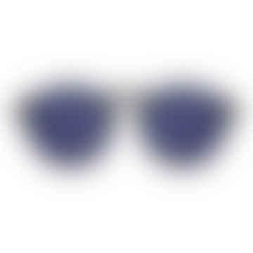 Devon Metal Black Silver Sunglasses