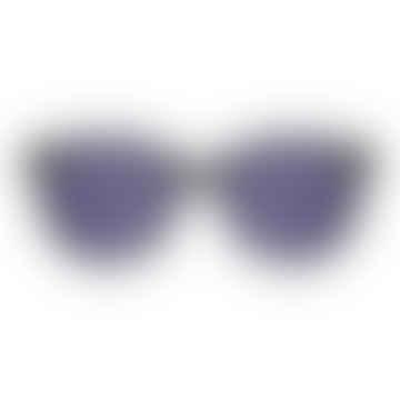 Renee Metal Black Silver Sunglasses