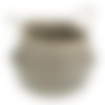 Large Black Zigzag Seagrass Basket