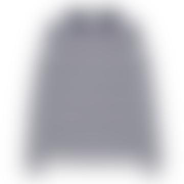 Makia Clothing Navy White Keel Long Sleeve Tee Shirt