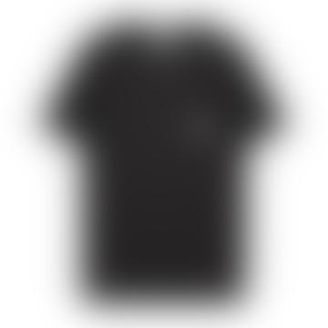 Makia Clothing Black Square Pocket Tee Shirt