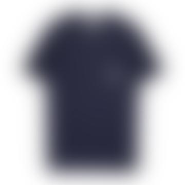 Makia Clothing Navy Makia Square Pocket Tee Shirt