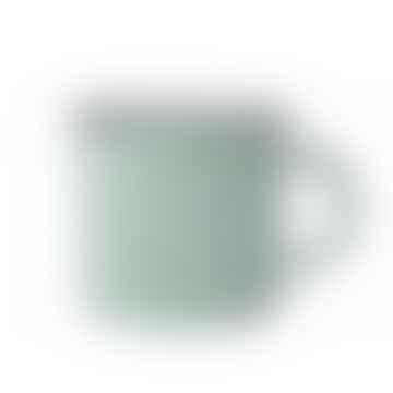 Pea Green Tinware Effect Stoneware Mug 16oz