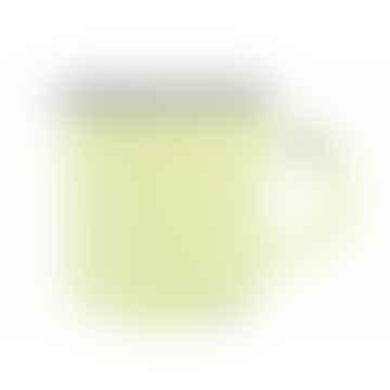 Yellow Tinware Effect Stoneware Mug 16oz