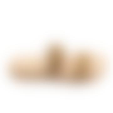 Auténticas sandalias de banda de oro