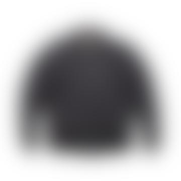 Black Waxed Millerain Bomber Jacket