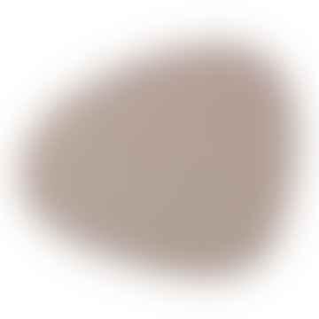 Large Light Grey Curve Table Mat Set of 4 pc.