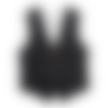 Gillet Black Aero Denim Waistcoat