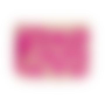 Nooki Design Pink Leopard Embroidered Raffia Clutch