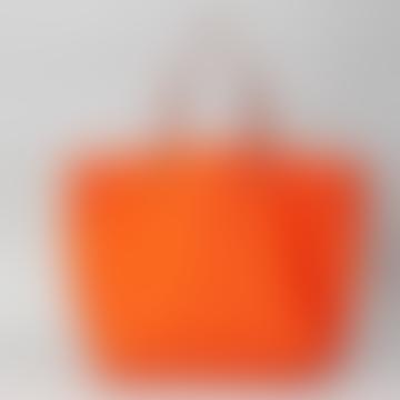 Orange Vesta Handheld Or Shoulder Tote Bag