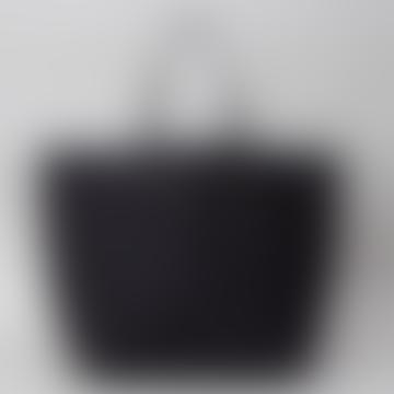 Black Vesta Handheld Or Shoulder Tote Bag