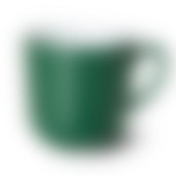 Tasse de couleur unie vert foncé